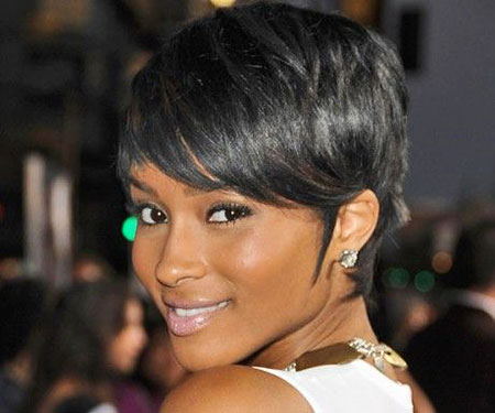 Fine Relaxed Hair, Hair Black Short Pixie