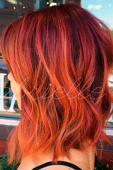 Red Ombre Orange Color