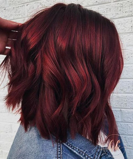Burgundy Balayage Color Trends
