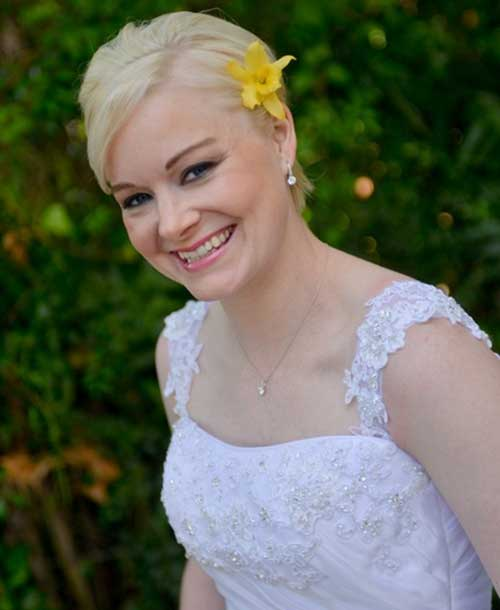 Simple Short Bride Hairstyles