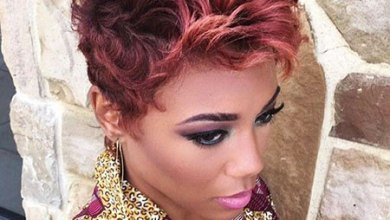 Short Curly Pixie, Hair Short Pink Black