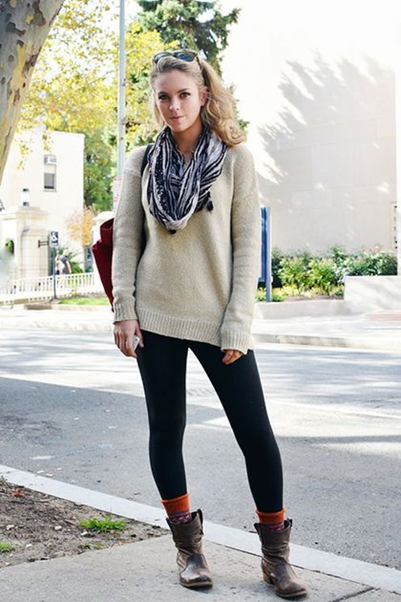 Dark-brown-boot-and-socks-with-black-leggings