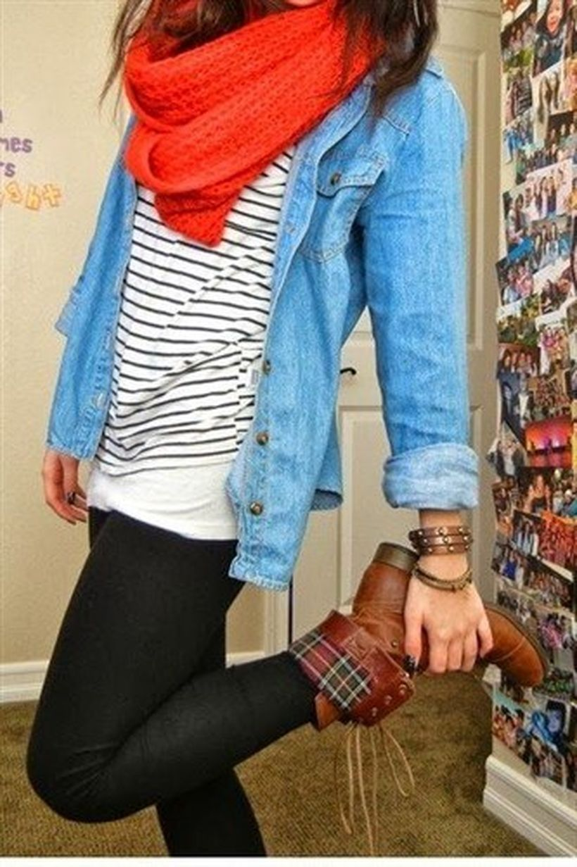 Brown-leather-and-plaid-with-black-legging
