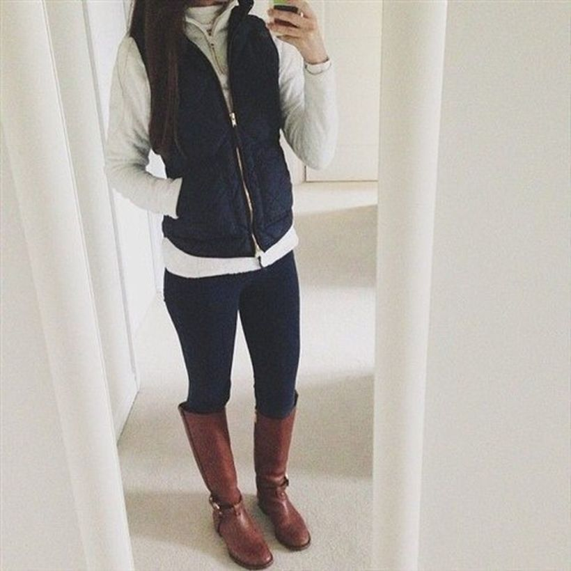 Leather-knee-high-boot-and-black-legging