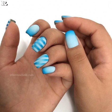 Ombre Nail art 2019