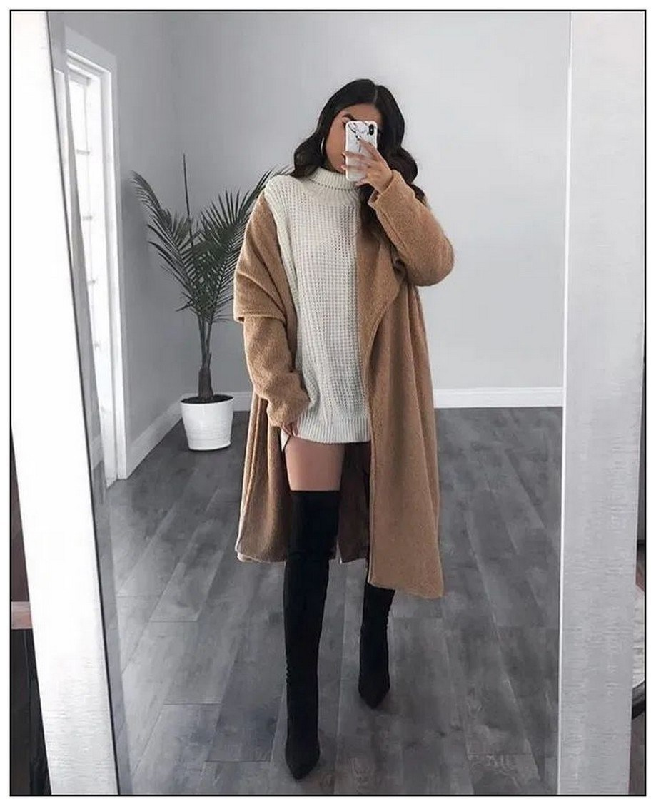 40+ ways to wear thigh high boots this winter 28