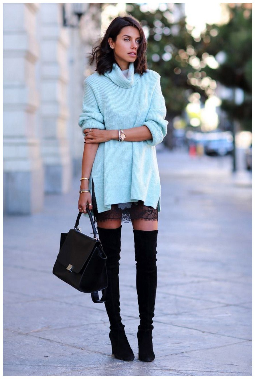 40+ ways to wear thigh high boots this winter 4