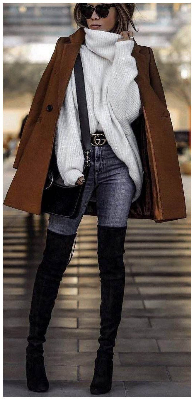 40+ ways to wear thigh high boots this winter 8