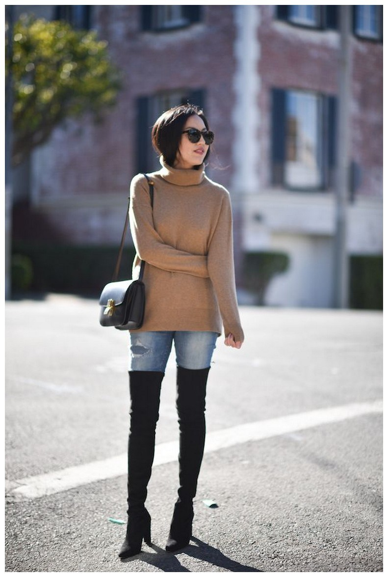 40+ ways to wear thigh high boots this winter 30