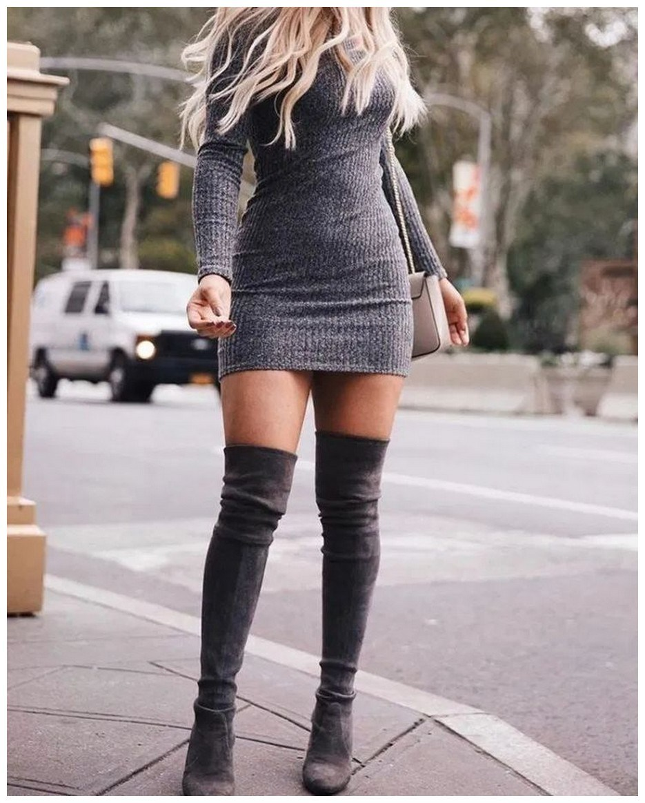 40+ ways to wear thigh high boots this winter 35