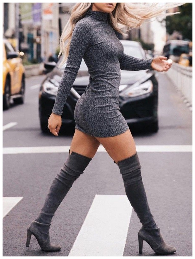 40+ ways to wear thigh high boots this winter 6