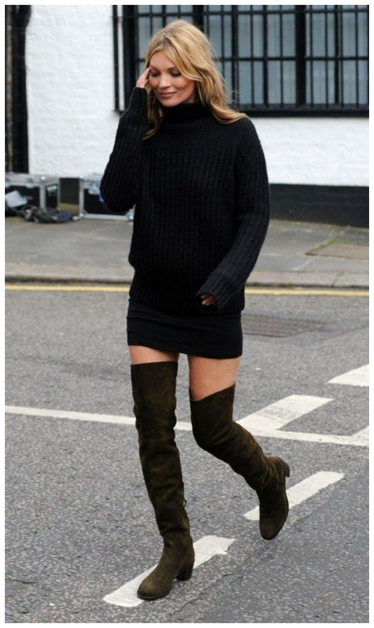 40+ ways to wear thigh high boots this winter 26