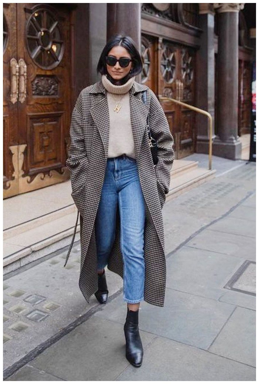 50+ pretty winter outfits you can wear on repeat 45