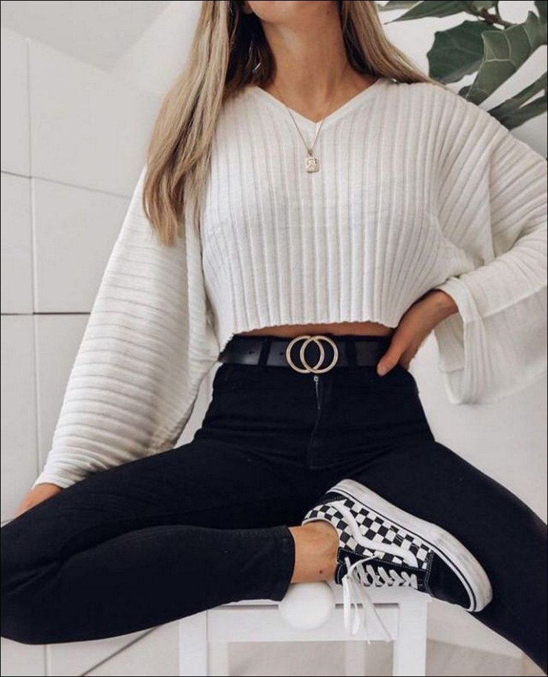 50+ checkered vans casual autumn outfit, winter outfit, style, outfit inspiration 50