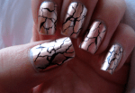 15 Cracked Metallic Winter Nail Designs You'll Love