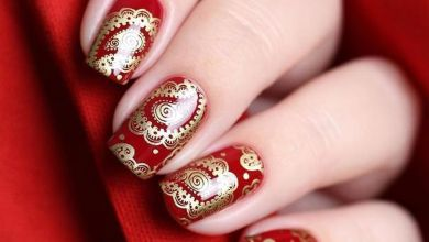 5 The Gold and Beads Winter Nail Art Inspiration