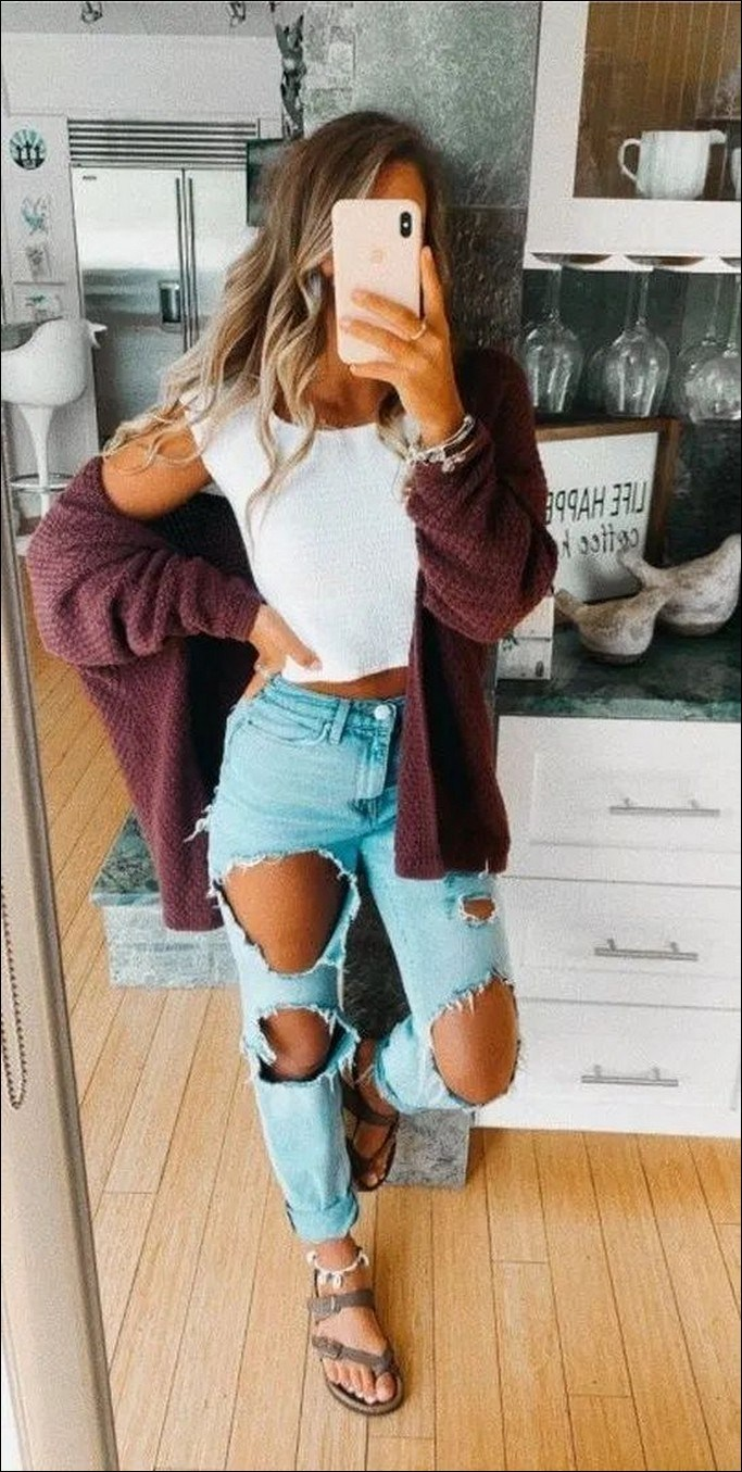35+ stylish comfy casual spring outfits for women 9