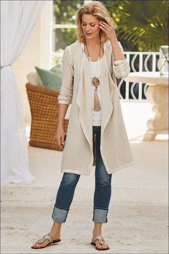 35+ stylish comfy casual spring outfits for women 7