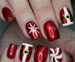 25 Magical Santa Nail Art Designs to Love