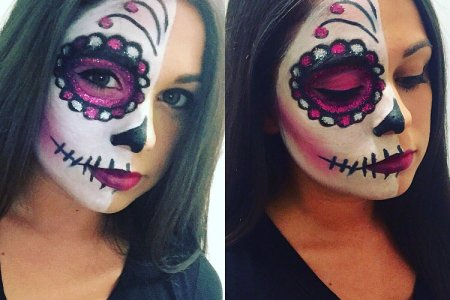 tutorial for an edgy half face skull by june diy halloween makeup tutorial for an edgy