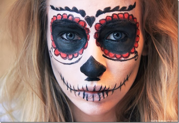 Image result for easy sugar skull makeup