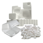 Other recyclable items include styrofoam (polystyrene) containers and packing materials.