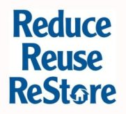 Habitiat ReStore offers a reuse opportunity for home items, fixtures, flooring and roofing materials, etc.