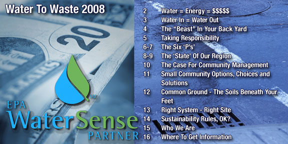 2008 Water To Waste contents