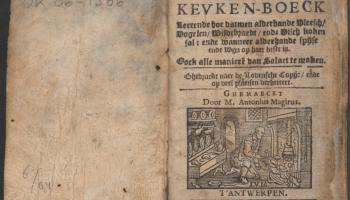 Koock-boeck oft Familieren kevken-boeck van Antonius Magirus (1655)