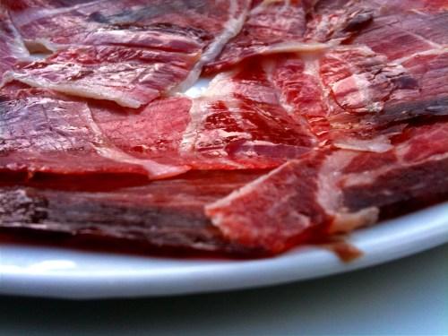 Andalucia: ham in het café