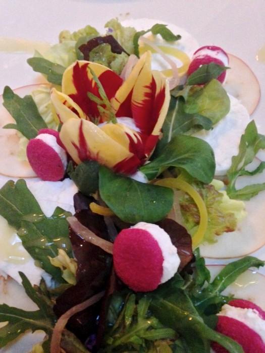 Restaurant De Gulle Waard - macarons met geitenkaas