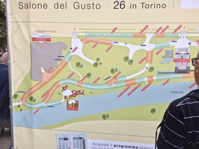 Salone del Gusto 2016: één helft van het Parco del Valentino