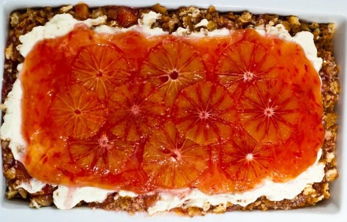 trifle met bloedsinaasappelen, mascarpone en amandelkoekjes