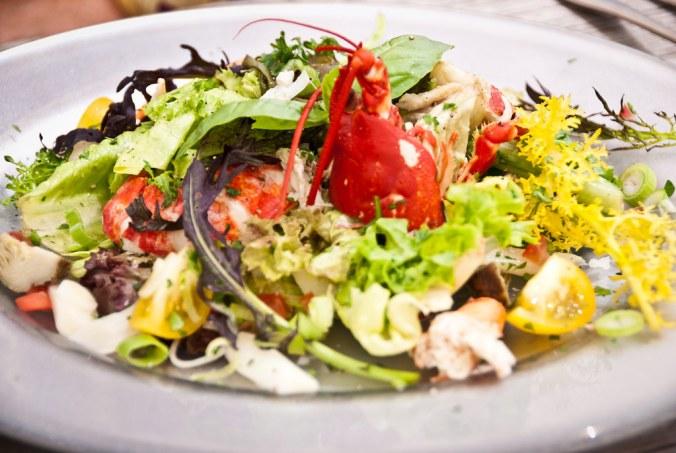 Salade met Oosterscheldekreeft