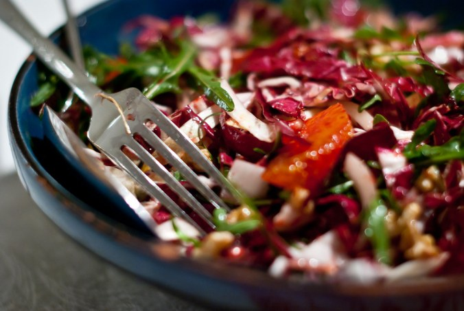 Ottolenghi: salade met bitterzoete radicchio
