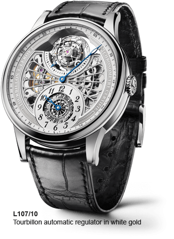LEROY L107/10 Tourbillon automatic regulator in white gold