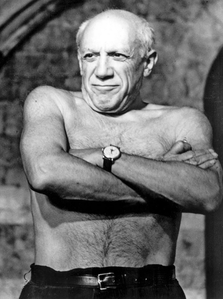 Pablo Picasso wearing a Patek Philippe Reference 2497