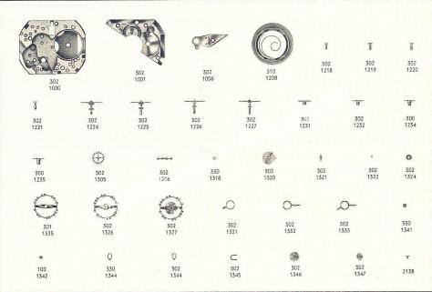 Omega 302 watch part