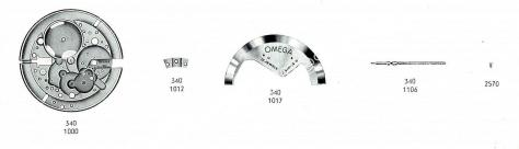 Omega 340 watch spare parts