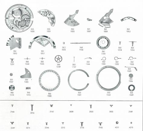 Omega 353 watch spare parts