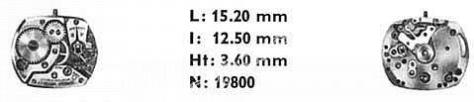 Omega 480 watch movements