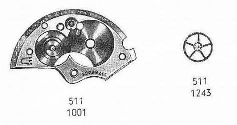 Omega 511 watch spare parts