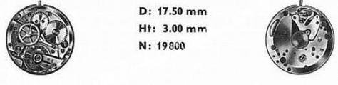 Omega 630 watch movements