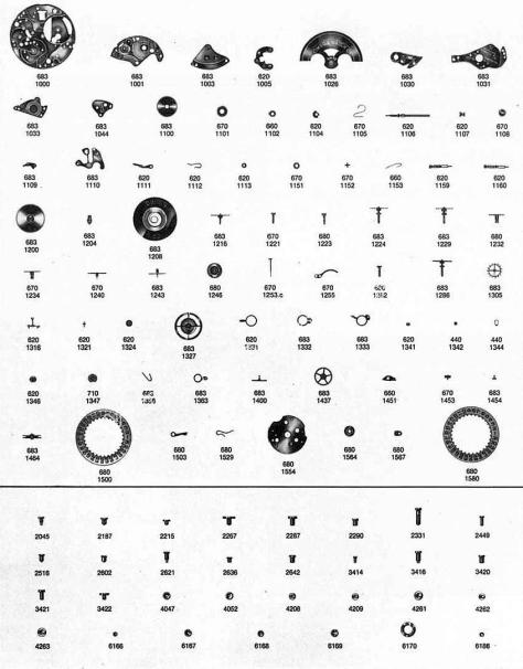 Omega 683 watch parts