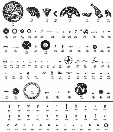 Omega 751 watch parts