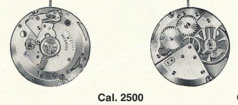 ETA 2500 watch movements