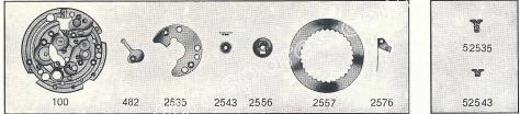 FHF Font 374 watch date spare parts