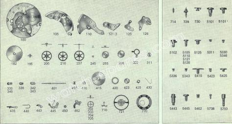 FHF Font 66.4 N watch spare parts