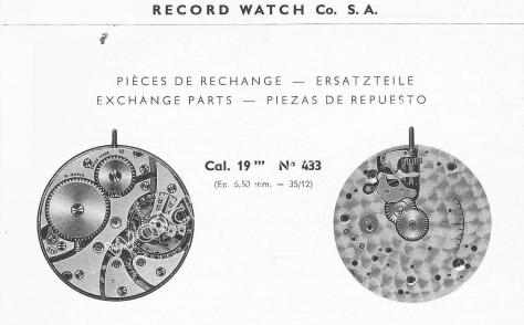 Record 433 watch movements