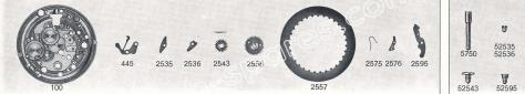 Standard ST 96.4 watch date spare parts